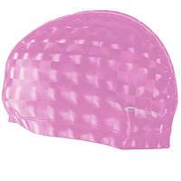 Шапочка для плавания Spokey Torpedo 3D (837549), для длинных волос, розовая Универсальный