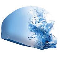 Шапочка для бассейна Spokey Stylo (839233), голубая с белым