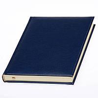 Ежедневник Небраска недатированный, кремовый блок, темно-синий от 10 шт