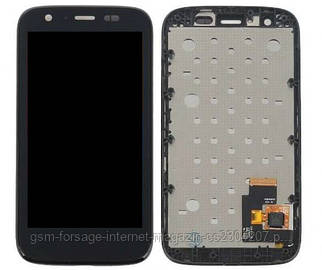 Дисплей Motorola XT1032 Moto G complete with touch and frame