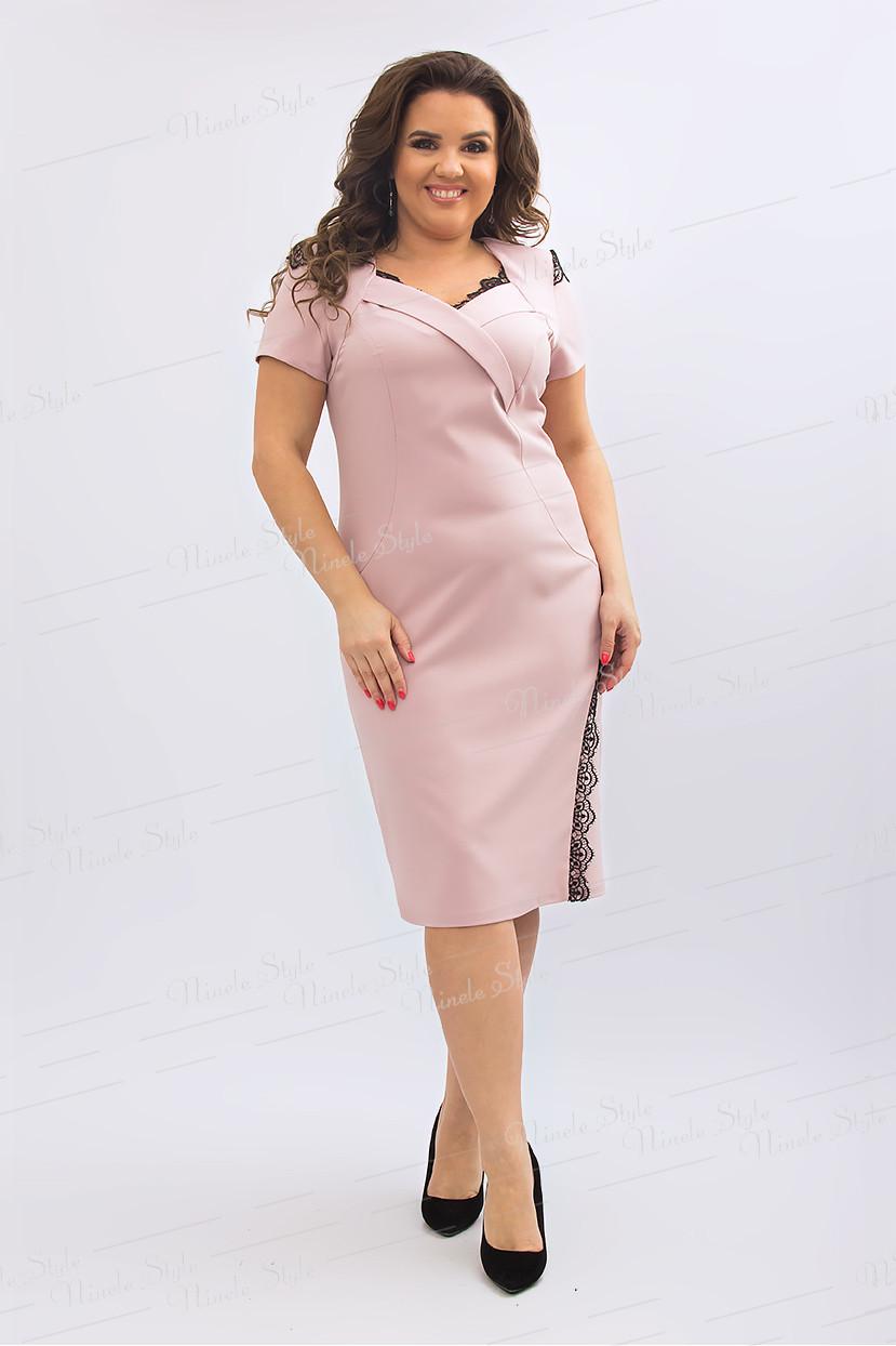 Бежевое платье 433-2