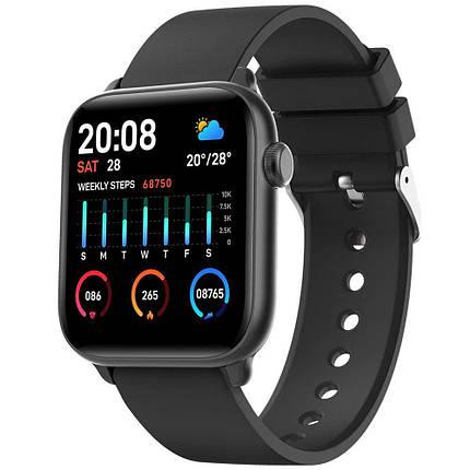 Умные часы King Wear KW37 с пульсометром (Черный), фото 2