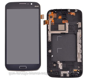 "Дисплей Samsung Galaxy Mega (5.8"") GT-I9150 Black complete + рамка"