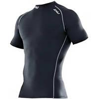 Компрессионная мужская футболка для тренировок фитнеса бега и спорта 2XU серебро