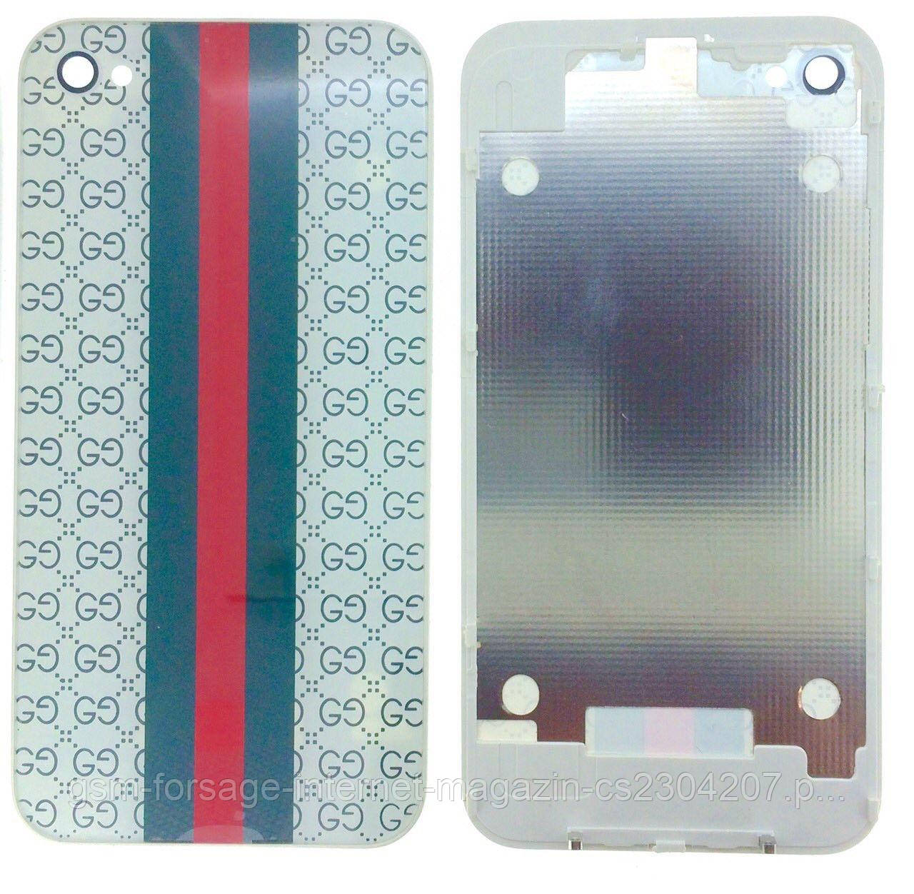 Крышка задняя iPhone 4 White Gucci Original Quality