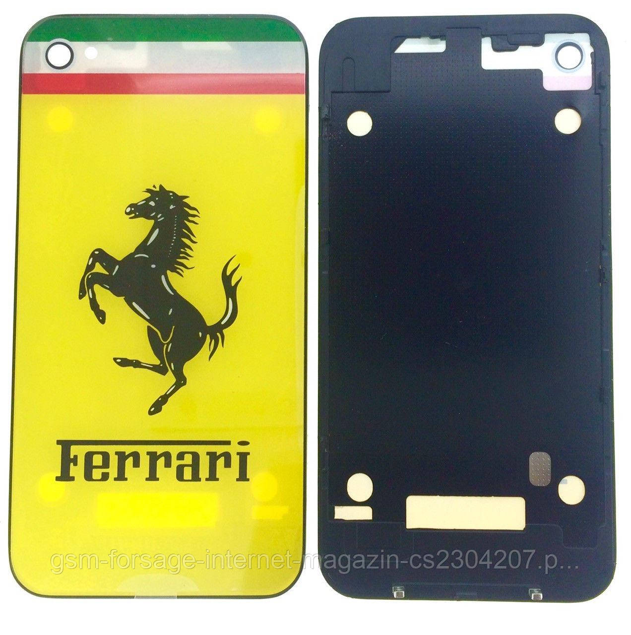 Крышка задняя iPhone 4 Yellow Ferrari Original Quality