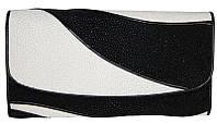 Кошелёк из кожи ската ST 52 DC Black / White