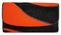 Кошелёк из кожи ската ST 52 DC Black / Orange