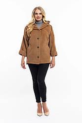 Жіноча,демісезонна,коротка куртка великого розміру, капюшон вшитий, р-ри з 48 по 54 ,бронза