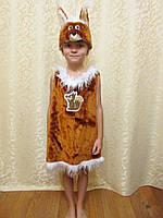 Прокат детского карнавального костюма Белочка в виде сарафана