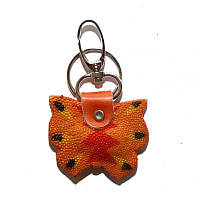Брелок из кожи ската STK 8 Butterfly Orange