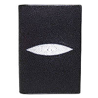 Обложка для паспорта/документов из кожи ската STPH 01 Black