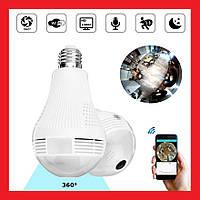 Панорамная IP WiFi камера лампочка рыбий глаз H-302L | LM321447