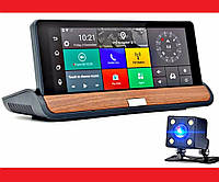 "Видеорегистратор на торпеду с 2 камерами / GPS  / 8""IPS Экран / 8Gb / 1Gb Ram / Android | LM321487"