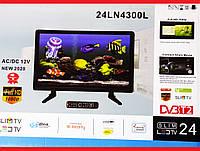 "На кухню идеально! LED Телевизор Domotec 24"" DVB - T2 12v/220v HDMI IN/USB/VGA/COAX OUT/PC AUDIO IN | LM321506"