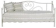 Кровать кушетка металическая кремовая 90x200см, фото 1