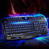 Игровая USB клавиатура Tricolor с подсветкой Геймерская клавиатура | LM321726