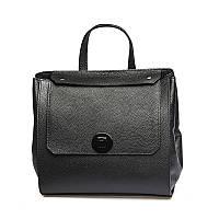 Рюкзак кожаный, черный., фото 1
