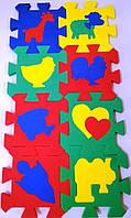Пазлы для малышей Коврик мозаика с силуэтами (14,0 х 14,0 см), Бомик (403)