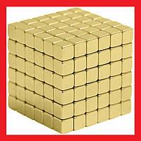 Неокуб квадратный Neocube 216 кубиков 5мм в металлическом боксе Магнитный конструктор | LM321814