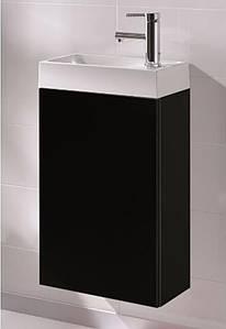 Набір ELITA Young Basic Black 400х225: (тумба + умивальник керамічний), 163070
