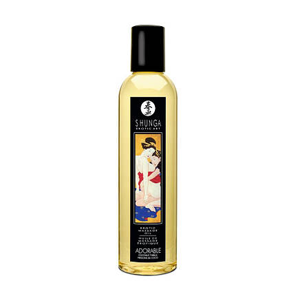 Массажное масло Shunga Adorable Coconut thrills, 250 мл, фото 2
