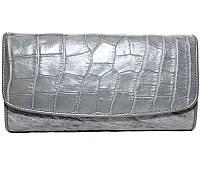 Кошелёк из кожи крокодила PCM 03 B Grey