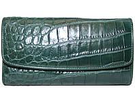 Кошелёк из кожи крокодила PCM 03 B Green