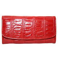 Кошелёк из кожи крокодила PCM 03 B Fire Red