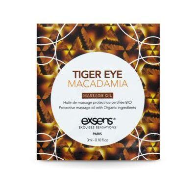 Пробник массажного масла Exsens Tiger Eye Macadamia, 3 мл