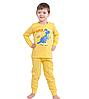 Пижама детская телпая желтая с начесом Dino трикотаж 100% хлопок Украина, фото 2