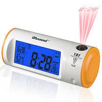 Цифровые часы проектор, часы с проекцией времени, подсветкой и ЖК-дисплеем - CHAOWEI® разные цвета