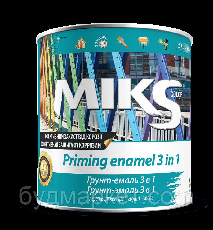 Грунт-эмаль 3 в 1 Мікs синяя  2,5 кг
