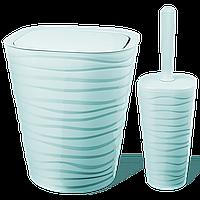 Набір для ванної кімнати Planet Welle 2 предмета сіро-блакитний
