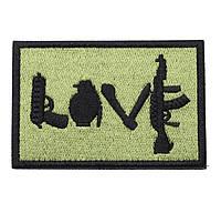 Нашивка на липучке ''LOVE'', фото 1
