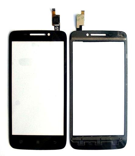Сенсор для телефона Lenovo S 650 тачскрин черный