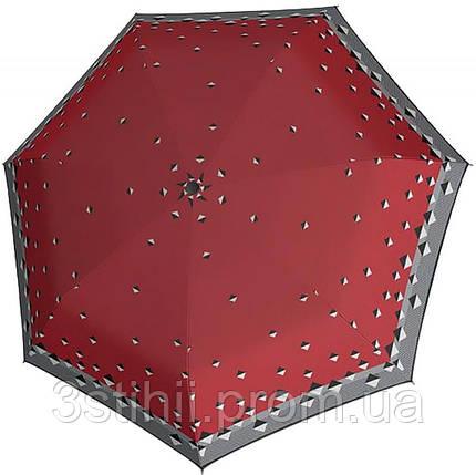 Зонт складной Derby 744165PTR-1 автомат Красный ромбы, фото 2