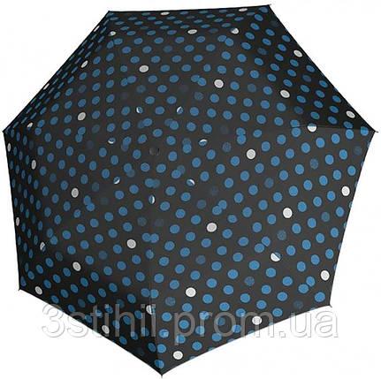 Зонт складной Derby 744165PTR-8 автомат Синий горох, фото 2