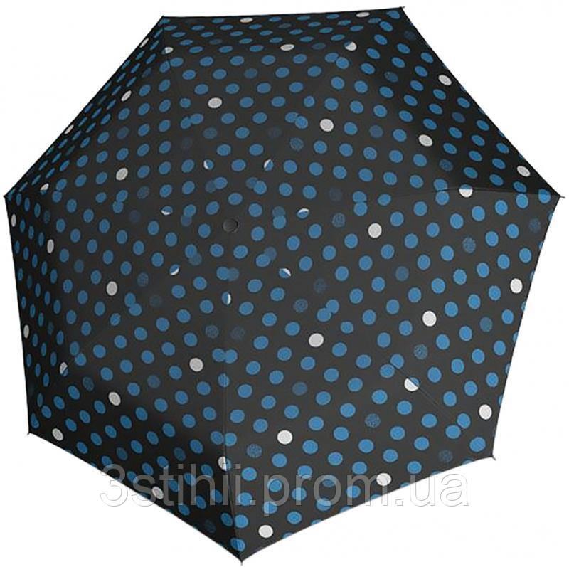 Зонт складной Derby 744165PTR-8 автомат Синий горох