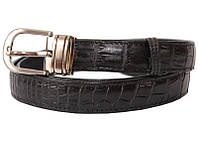Ремень из кожи крокодила 102 ALB Black
