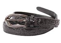 Ремень из кожи крокодила 101 ALB Black