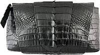 Сумка-клатч из цельной шкуры крокодила FCM 320 Black
