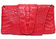 Сумка-клатч из цельной шкуры крокодила FCM 320 Fire red