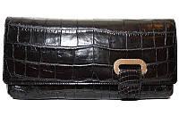 Сумка-клатч из кожи крокодила (живот), экскл. FAM 042 Black