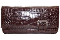 Сумка-клатч из кожи крокодила (живот), экскл. FAM 042 Brown
