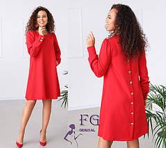 Платье женское повседневное трапециевидного фасона, фото 3