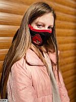 """Детская стильная многоразовая маска с шевроном """"Angry Birds"""""""