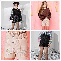 Шорты модные для девочек sh-100 ТМ Barbarris Размеры 134 - 164