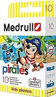 """Пластир медичний Medrull дитячий """"Pirates"""" , з полiмерного матерiалу, розмiр 25 мм х 57 мм, №10"""