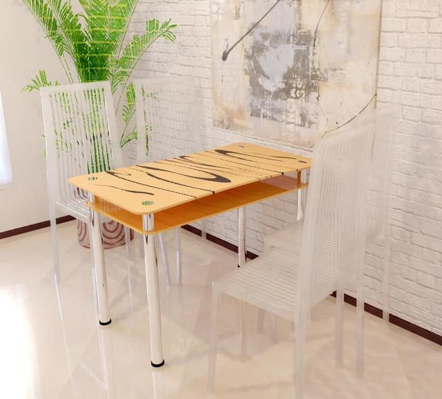 Скляний Стіл Вінтаж. Кухонний Стіл. Безкоштовна Доставка — у Категорії